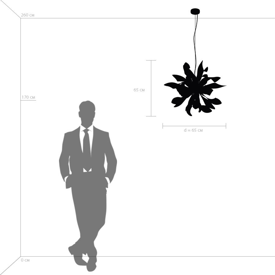 Схема с размерами Lightstar 754266