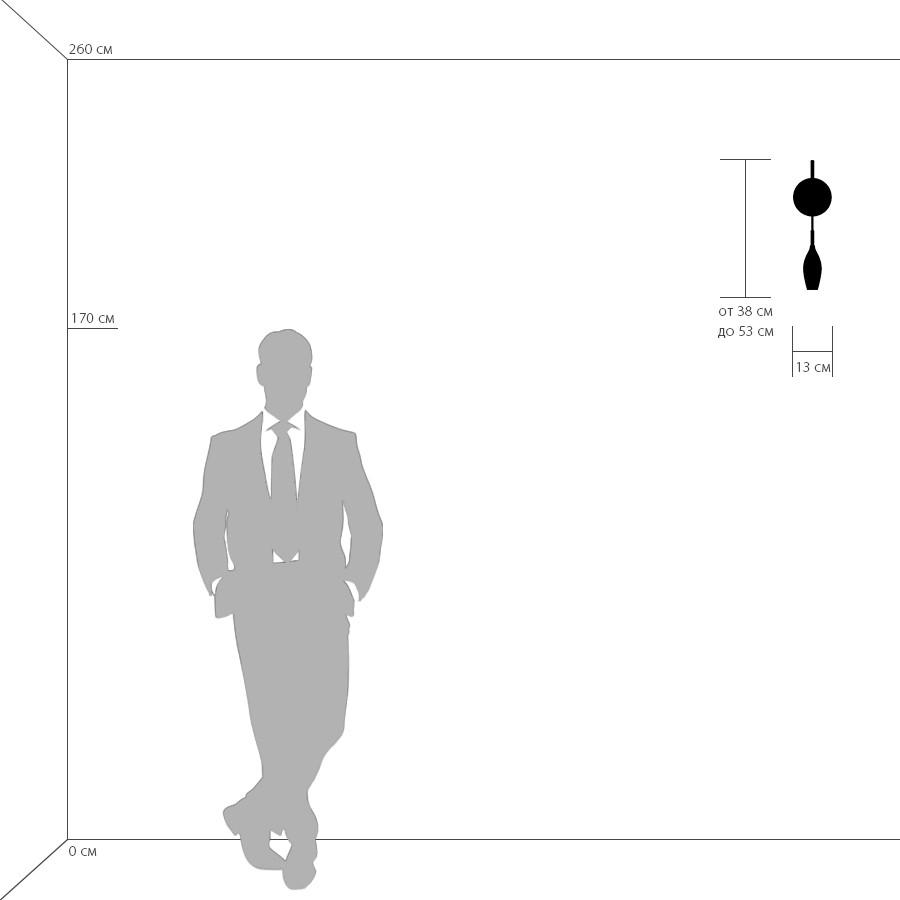 Схема с размерами Lightstar 803520