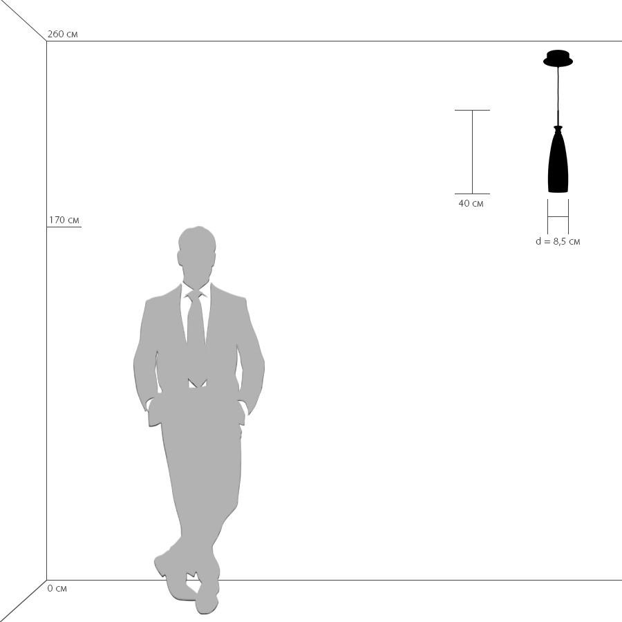 Схема с размерами Lightstar 810013