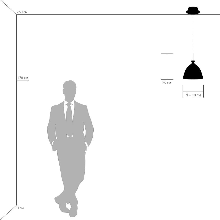 Схема с размерами Lightstar 810023