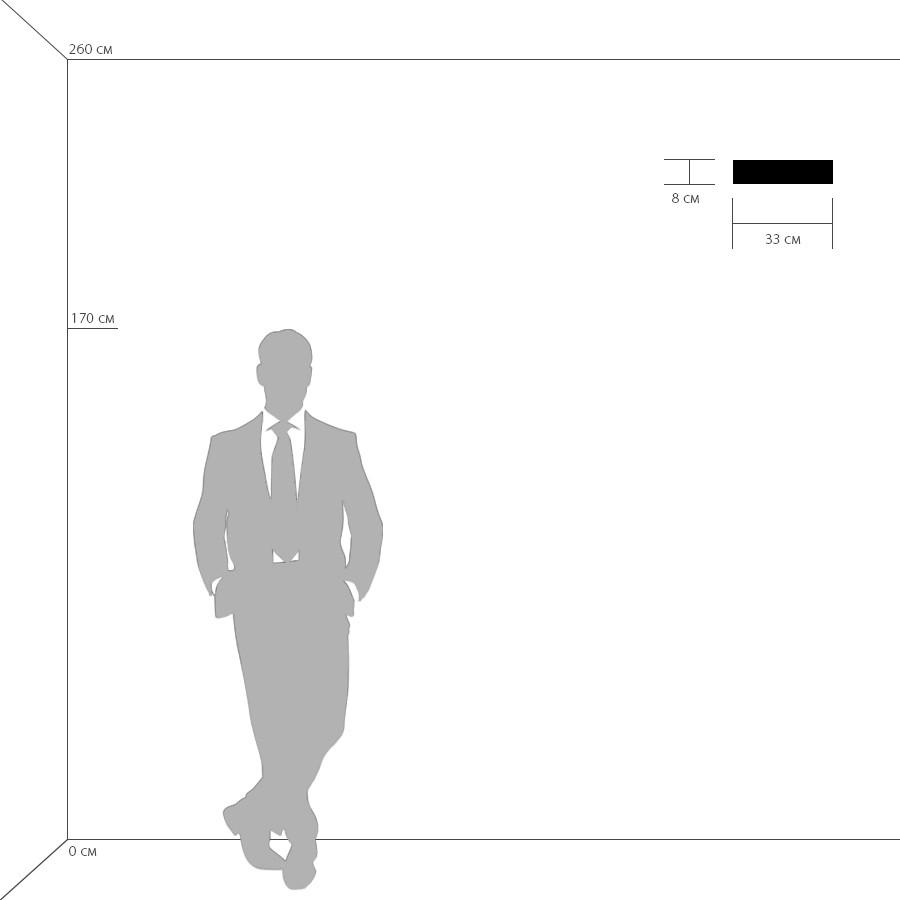 Схема с размерами Lightstar 810616