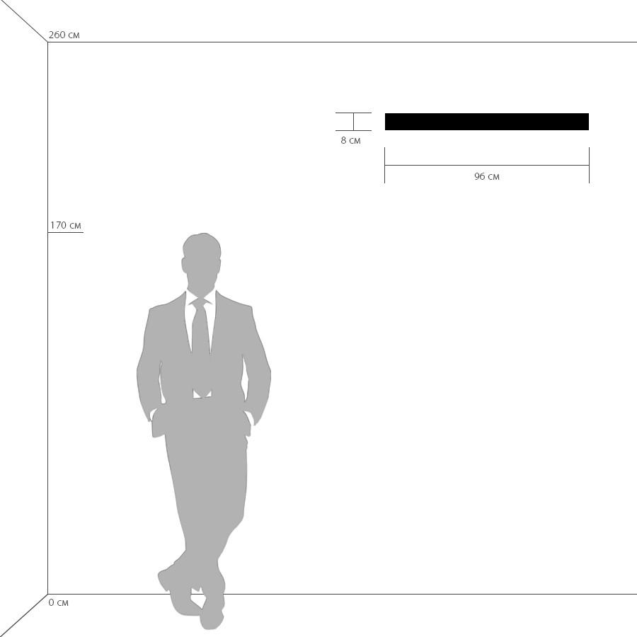 Схема с размерами Lightstar 810638