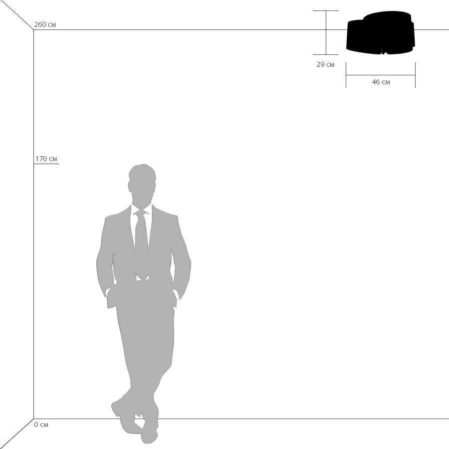Схема с размерами Lightstar 811034