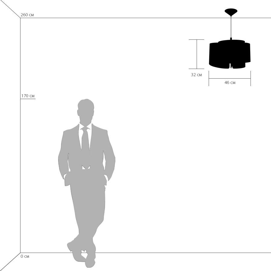 Схема с размерами Lightstar 811134