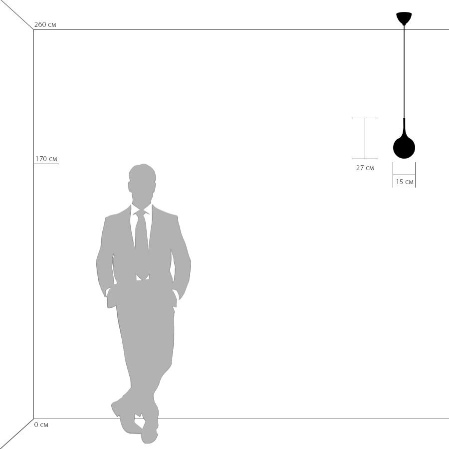 Схема с размерами Lightstar 813011
